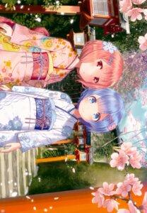 Rating: Safe Score: 52 Tags: kamikire_basami kimono ram_(re_zero) re_zero_kara_hajimeru_isekai_seikatsu rem_(re_zero) yasuyuki User: kiyoe