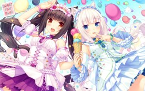Rating: Safe Score: 80 Tags: animal_ears chocolat neko_para nekomimi sayori tail thighhighs vanilla wallpaper User: RyuZU
