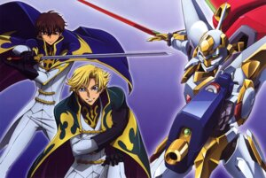 Rating: Safe Score: 7 Tags: code_geass gino_weinberg itagaki_atsushi kururugi_suzaku male mecha User: hyde333