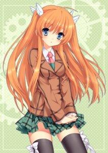 Rating: Safe Score: 67 Tags: ootori_chihaya rewrite sakura_neko seifuku thighhighs User: Nekotsúh
