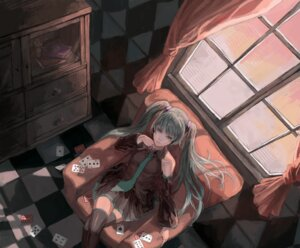 Rating: Safe Score: 9 Tags: hatsune_miku tanukiudon-umai vocaloid wallpaper User: anaraquelk2