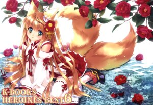 Rating: Safe Score: 57 Tags: animal_ears carnelian k-books kitsune miko tail thighhighs User: Twinsenzw