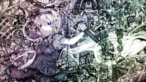 Rating: Safe Score: 9 Tags: heterochromia konpaku_youmu sibanoue touhou wallpaper User: blooregardo