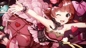 Rating: Safe Score: 15 Tags: dress heels mikapoe nonohara_akane skirt_lift the_idolm@ster the_idolm@ster_million_live! valentine User: Mr_GT