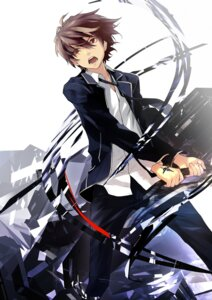 Rating: Safe Score: 22 Tags: guilty_crown male ouma_shuu redjuice User: Radioactive