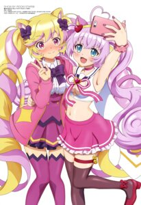 Rating: Safe Score: 23 Tags: animal_ears garter heels mashima_himeko nakano_yuuki nekomimi no_bra rosia_(show_by_rock!) selfie show_by_rock!! tail thighhighs User: drop