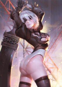 Rating: Questionable Score: 60 Tags: ass bondage cleavage dress leotard nier_automata sword thighhighs xiao_duzi yorha_no.2_type_b User: mash