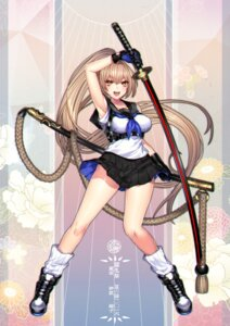 Rating: Safe Score: 59 Tags: katagiri_hachigou seifuku sword touran-sai User: Mr_GT