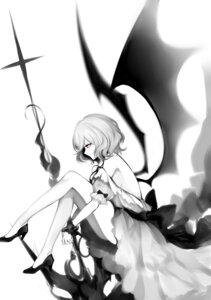 Rating: Safe Score: 26 Tags: dress heels monochrome no_bra remilia_scarlet sheya touhou wings User: Mr_GT