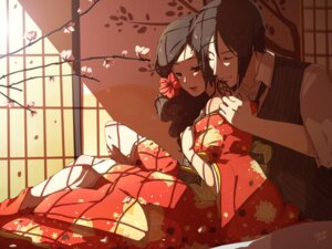 Rating: Safe Score: 12 Tags: ceal-sakura-ai kimono kuroshitsuji pandora_(pandaberry6) sebastian_michaelis User: charunetra