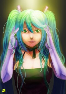 Rating: Safe Score: 9 Tags: hatsune_miku nanaya_(daaijianglin) vocaloid User: charunetra