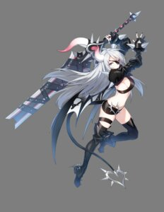 Rating: Questionable Score: 39 Tags: armor closers eyepatch heels horns red_star_alliance sword tail thighhighs transparent_png violet_(closers) weapon wings User: Nepcoheart