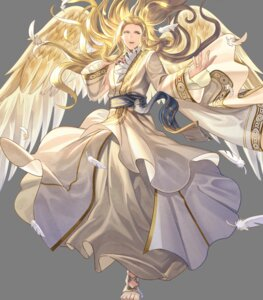 Rating: Questionable Score: 3 Tags: angel fire_emblem fire_emblem:_souen_no_kiseki fire_emblem_heroes nintendo pointy_ears rafiel shimomura_watari wings User: fly25