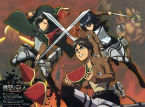 Rating: Safe Score: 15 Tags: eren_jaeger levi mikasa_ackerman sera_yuuko shingeki_no_kyojin sword User: drop