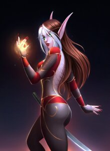 Rating: Safe Score: 12 Tags: ass bodysuit fishnets lisai no_bra pointy_ears sword world_of_warcraft User: dick_dickinson