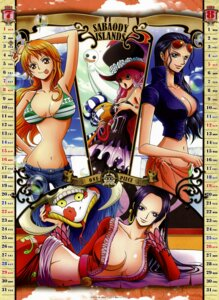 Rating: Safe Score: 43 Tags: bikini_top boa_hancock calendar cleavage nami nico_robin one_piece perona salome User: fireattack