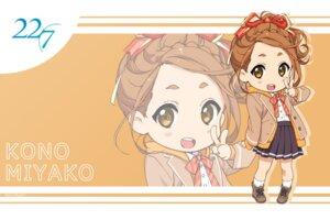 Rating: Safe Score: 9 Tags: 22/7 chibi horiguchi_yukiko kouno_miyako seifuku User: saemonnokami