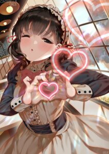 Rating: Safe Score: 39 Tags: bsue maid sakuma_mayu the_idolm@ster the_idolm@ster_cinderella_girls User: Mr_GT