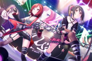 Rating: Safe Score: 35 Tags: ginopi guitar love_live! nishikino_maki stockings thighhighs yazawa_nico User: Mr_GT
