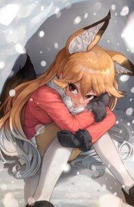 Rating: Safe Score: 16 Tags: animal_ears ezo_red_fox kemono_friends kitsune melaton pantyhose skirt_lift tail User: dick_dickinson