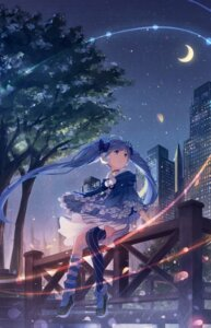 Rating: Safe Score: 41 Tags: dress fuyu_no_yoru_miku hatsune_miku thighhighs vocaloid yue_yue User: 御坂Misaka丶