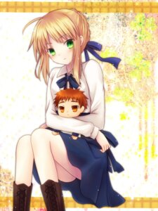 Rating: Safe Score: 16 Tags: amano_sora emiya_shirou fate/stay_night saber User: 椎名深夏