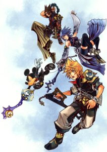 Rating: Safe Score: 18 Tags: aqua_(kingdom_hearts) armor bike_shorts kingdom_hearts kingdom_hearts_birth_by_sleep mickey nomura_tetsuya square_enix sword terra thighhighs ventus User: Radioactive