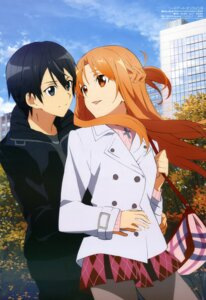 Rating: Safe Score: 52 Tags: asuna_(sword_art_online) kirito pantyhose suzuki_risa sword_art_online User: drop