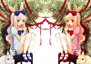 Rating: Safe Score: 27 Tags: animal_ears bunny_ears midorikawa_you thighhighs User: blooregardo