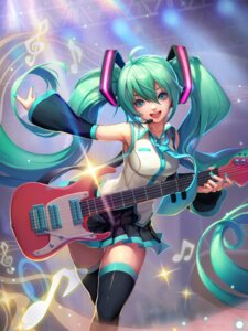 Rating: Safe Score: 50 Tags: guitar hatsune_miku loewy thighhighs vocaloid User: Mr_GT