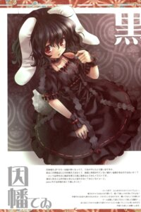Rating: Safe Score: 14 Tags: animal_ears anzuya bunny_ears dress gothic_lolita inaba_tewi lolita_fashion marukata touhou User: Radioactive