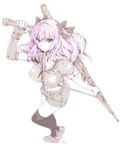 Rating: Safe Score: 16 Tags: gun hage thighhighs User: Radioactive
