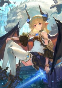 Rating: Safe Score: 31 Tags: horns monster pointy_ears sword thighhighs wasabi60 wings User: Dreista