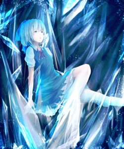 Rating: Safe Score: 28 Tags: cirno dress maruromu touhou wings User: zero|fade