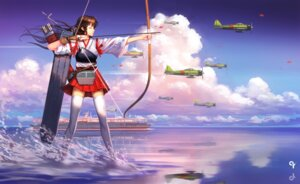 Rating: Safe Score: 43 Tags: akagi_(kancolle) kantai_collection liang_xing thighhighs weapon User: Mr_GT