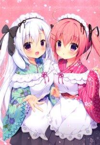 Rating: Safe Score: 17 Tags: animal_ears bunny_ears canvas+garden maid miyasaka_miyu niwasaka_rira shionomiya_richer wa_maid User: lightsnow