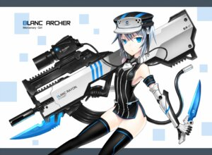 Rating: Safe Score: 34 Tags: bodysuit gia gun thighhighs User: SciFi