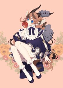 Rating: Safe Score: 39 Tags: animal_ears asahi_nini dress horns tail User: KazukiNanako