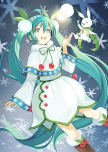 Rating: Safe Score: 28 Tags: dress hatsune_miku kari_kenji vocaloid yuki_miku User: charunetra