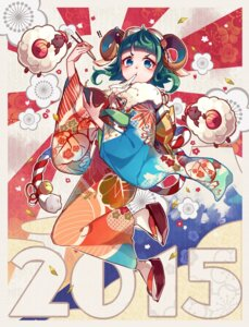 Rating: Safe Score: 21 Tags: animal_ears gumi horns kimono nou vocaloid User: Mr_GT