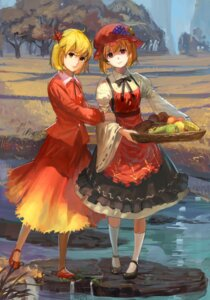 Rating: Safe Score: 20 Tags: aki_minoriko aki_shizuha dress nanairono_kaigashi touhou User: blooregardo