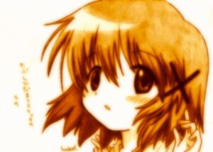 Rating: Safe Score: 5 Tags: godees hidamari_sketch monochrome yuno User: charunetra