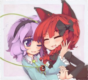 Rating: Safe Score: 3 Tags: animal_ears kaenbyou_rin komeiji_satori sorau touhou User: Radioactive