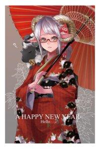 Rating: Safe Score: 19 Tags: horns japanese_clothes kimono kumonji_aruto megane umbrella User: Mr_GT