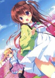 Rating: Safe Score: 47 Tags: dress miyasaka_miyu pantsu seifuku thighhighs User: Twinsenzw
