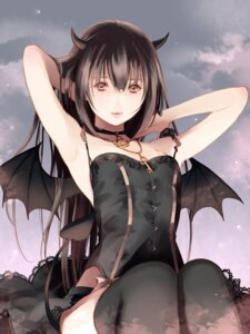 Rating: Safe Score: 64 Tags: fuuchouin_kazuki get_backers horns papillon10 tail thighhighs trap wings User: Mr_GT