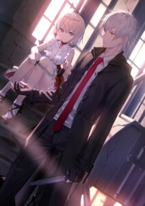 Rating: Safe Score: 20 Tags: business_suit heels shinooji skirt_lift weapon User: Mr_GT