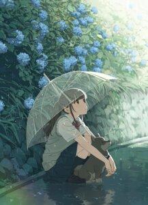 Rating: Safe Score: 39 Tags: issindotai see_through seifuku skirt_lift sweater umbrella wet_clothes User: Mr_GT