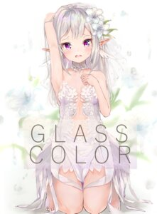 Rating: Questionable Score: 46 Tags: breast_hold cleavage dress elf gaaratelier no_bra pointy_ears wedding_dress User: yanis