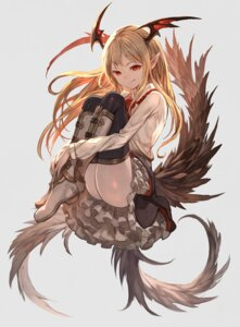 Rating: Safe Score: 40 Tags: granblue_fantasy heels lack pointy_ears tail thighhighs vampy_(granblue_fantasy) wings User: Mr_GT